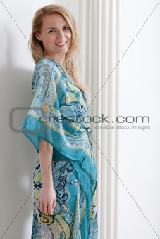 Young woman in summer dress