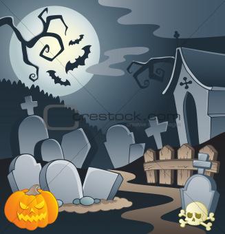 Cemetery theme image 1