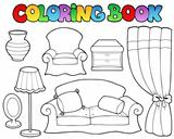 Coloring book various furniture 1