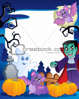 Frame with Halloween topic 6