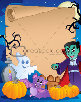 Scene with Halloween parchment 1