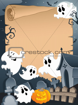 Scene with Halloween parchment 4