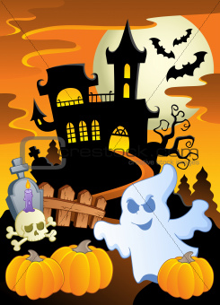 Scene with Halloween theme 5