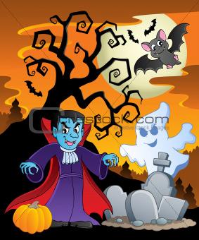 Scene with Halloween theme 7