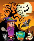 Scene with Halloween theme 8