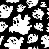 Seamless background with ghosts 1