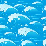 Waves theme seamless background 1