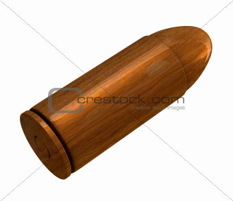 3d bullet made of wood