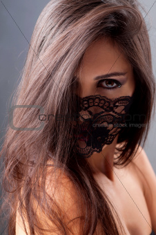 portrait of a girl in a mask