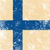 Finland retro flag