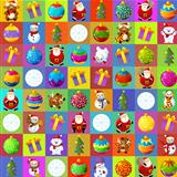 The christmas patchwork design