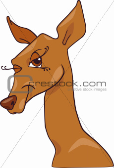cute doe or roe cartoon character