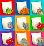Cartoon Designs and Decorations Set