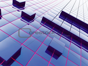 Abstract background from a modern construction material