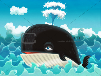 The cartoon whale