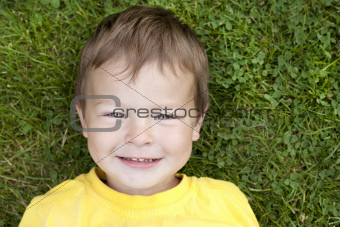 toddler in the grass