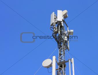 Cellular antenna  against blue sky