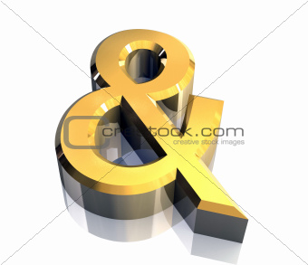and symbol in gold isolated (3d)