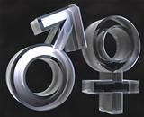 Male and female sex symbols Male and female sex symbols (3D)