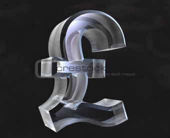 pound symbol in transparent glass