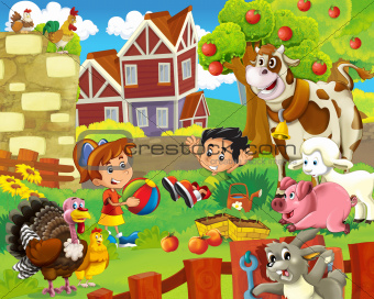 The farm illustration