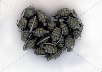 grenades in a heart shape