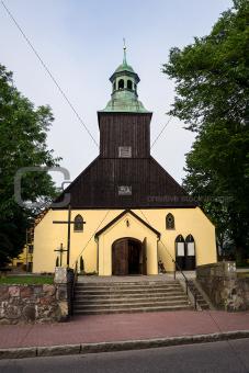 Catholic Church in Leba, Poland.