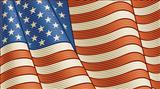 Vintage American Flag (close-up)