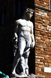Statue of Neptune in founta in Florence. Italy.