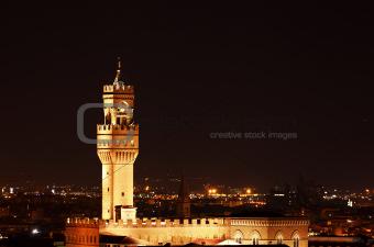 Palazzo Vecchio in the Night