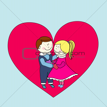 boy and girl, happy valentine's day