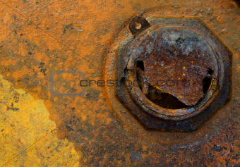 Old rusty lid