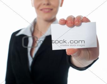 Businesscard, closeup shot