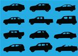 Cars silhouettes part 4