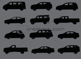 Cars silhouettes part 3