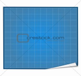 Blank blueprint paper