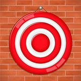 Red target on brick wall