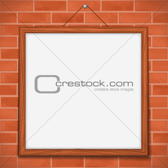 Frame on brick wall