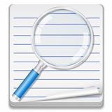 Notebook with magnifying glass