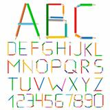 Colored Pencils Alphabet