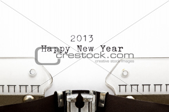Typewriter 2013 Happy New Year