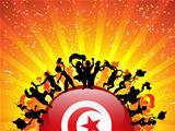 Turkey Sport Fan Crowd with Flag