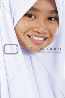 Southeast Asian Muslim girl