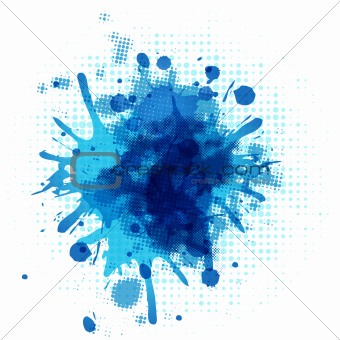 Abstract Blue Blob