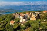 Adriatic Town of Dobrinj view