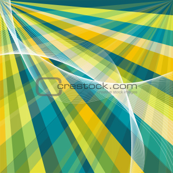 vector blue retro burst abstract background