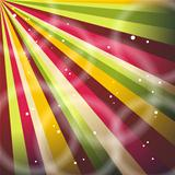 Multicolor Sunbeams grunge background. A vintage poster. 
