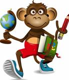 monkey student