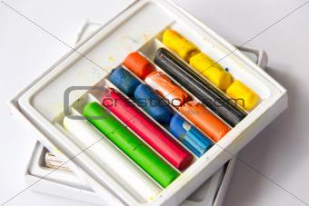 old wax crayons
