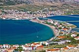 Island of Pag bay aerial view